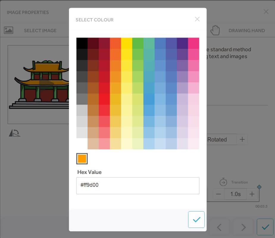Videoscribe thay đổi màu sắc hình ảnh